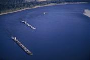 Aerial Of Mississippi River Print by Kenneth Garrett