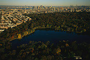 Skylines Metal Prints - Aerial Of Prospect Park Metal Print by Melissa Farlow