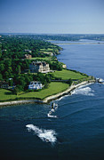 Walk Paths Art - Aerial Of The Breakers, A Mansion Built by Ira Block