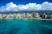 Far Above Framed Prints - Aerial Of Waikiki Framed Print by Peter French - Printscapes