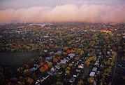 Aerials Prints - Aerial Over The Finger Lakes Area Print by Kenneth Garrett