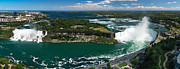 "\""niagra Falls\\\"" Framed Prints - Aerial Panoramic View of Niagara Falls Framed Print by Oleksiy Maksymenko"