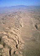 Carrizo Plain Prints - Aerial Photo Of The San Andreas Fault Print by David Parker