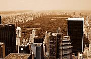 Central Park Skyline Prints - Aerial View Central Park Print by Allan Einhorn