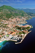 Casino Pier Posters - Aerial View Of A City, Monte Carlo, Monaco, France Poster by Medioimages/Photodisc
