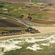 Cultivation Prints - Aerial View of a Coastal Community Print by Eddy Joaquim