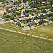 Palo Alto Prints - Aerial View of a Cul-de-sac Print by Eddy Joaquim