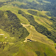 San Mateo County Prints - Aerial View Of A Dirt Road Print by Eddy Joaquim