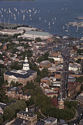 Scenes And Views Photos - Aerial View Of Annapolis. The by Annie Griffiths