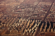 Aerial Framed Prints - Aerial View Of Beijing Suburb, Tongzhou Distr Framed Print by Jialiang Gao