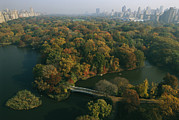 Central Park Prints - Aerial View Of Central Park Print by Melissa Farlow