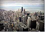 Downtown District Posters - Aerial View Of Chicago Downtown Poster by Luiz Felipe Castro