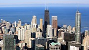 Magnificent Prints - Aerial View Of Chicago Print by Luiz Felipe Castro
