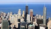 Aerial View Of Chicago Print by Luiz Felipe Castro
