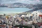 City Life Prints - Aerial View Of Florianópolis Print by DircinhaSW