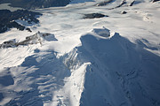 Crater Lake View Photos - Aerial View Of Glaciated Mount Douglas by Richard Roscoe