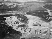 Works Progress Administration Art - Aerial View Of Greenbelt, Maryland by Everett
