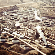 Polluting Prints - Aerial View of Industrial Plant Print by Eddy Joaquim