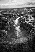 High Altitude Flying Art - Aerial View Of Niagara Whirlpool And Area From Helicopter Flight Over Niagara Falls Ontario Canada by Joe Fox