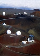 Mauna Kea Photos - Aerial View Of Observatories At Mauna Kea, Hawaii by John Sanford
