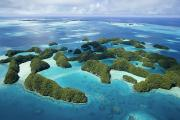 Caroline Islands Prints - Aerial View Of Palaus Rock Islands Print by Stephen Alvarez