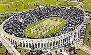 Baseball Stadiums Posters - Aerial View Of Pitt Stadium In Pittsburgh Pa Poster by Dwight Goss