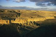 Southwestern States Photos - Aerial View Of Pueblo Bonito In Chaco by Ira Block