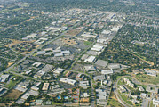 Semiconductor Posters - Aerial View Of Silicon Valley Poster by Credit : David Parker