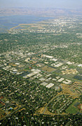Semiconductor Posters - Aerial View Of Silicon Valley Poster by David Parker