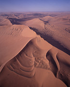 Namib Naukluft National Park Framed Prints - Aerial View Of Star Dune Formations Framed Print by Gerry Ellis