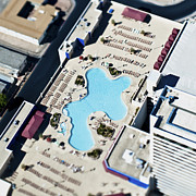 Asphalt Photos - Aerial View of Swimming Pool by Eddy Joaquim