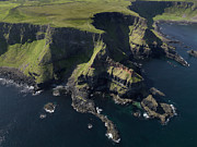Causeway Coast Prints - Aerial View Of The Causeway Coast Print by Chris Hill
