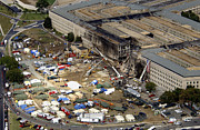 Virginia Ruins Photos - Aerial View Of The Terrorist Attack by Stocktrek Images