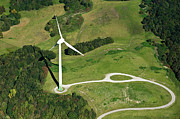 Renewable Photos - Aerial View Of Wind Turbine by Daniel Reiter