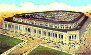 Yankee Paintings - Aerial View Of Yankee Stadium In 1924 by Dwight Goss