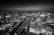 Sky Line Art - Aerial View Over The City Of Liverpool And Roman Catholic Cathedral Merseyside England Uk by Joe Fox