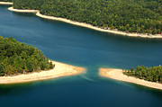 Man-made Lake Posters - Aerial View Summersville Lake Poster by Thomas R Fletcher