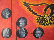 Steven Tyler  Painting Originals - Aerosmith Art Painting 40th Anniversary by Jeepee Aero