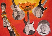 Aerosmith Paintings - Aerosmith Painting by Jeepee Aero