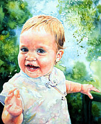 Child Portraits Prints - Aeryn Portrait Print by Hanne Lore Koehler