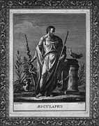 Togas Posters - Aesculapius, Greek God Of Medicine Poster by Everett