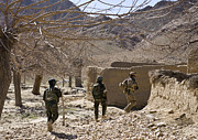 Bare Trees Prints - Afghan Commandos Are Guided Print by Stocktrek Images