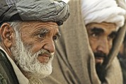 Civilians Framed Prints - Afghan Elders Listen To U.s. Soldiers Framed Print by Everett