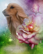 Afghan Hound Mixed Media - Afghan Hound Dreams by Smilin Eyes  Treasures