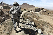 Dirt Roads Photos - Afghan National Army And U.s. Soldiers by Stocktrek Images