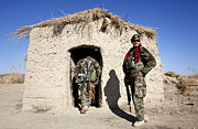 Entrance Shop Front Prints - Afghan National Army Soldier Holds Print by Stocktrek Images