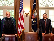 Bswh052011 Prints - Afghan President Hamid Karzai Left Print by Everett