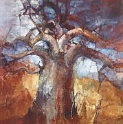 Baobab Paintings - Africa Calls by Wendy Rosselli