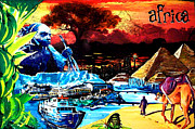 Johannesburg Mixed Media - Africa by Gerald Herrmann