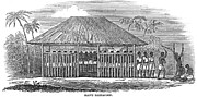 Whipping Prints - Africa: Slave Pen, 1849 Print by Granger